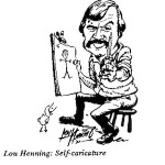 Lou Henning- Self Caricature
