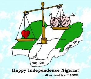 """Ganiyu """"Jimga"""" Jimoh: Happy Independence Nigeria cartoon"""