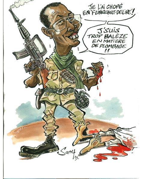 le gendarme d'Afrique a fait son boulot comme d'hab...