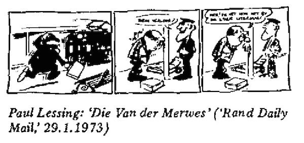 Paul Lessing- Die Van der Merwes cartoon