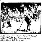 Paul Lessing- Nero Vorster cartoon