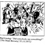 Paul Lessing- Somebody Say Something cartoon
