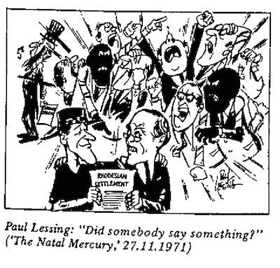Paul Lessing- Somebody Say Something cartoon