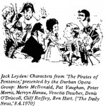 Jock Leyden- Characters from Pirates of Penzance
