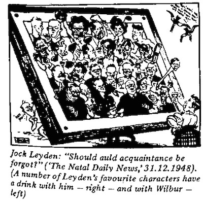 Jock Leyden- Should Auld Acquaintance Be Forgot cartoon