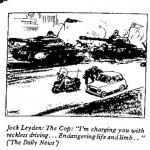 Jock Leyden- The Cop cartoon