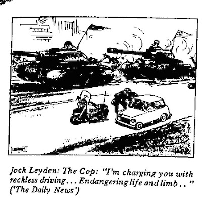 Jock Leyden- The Cop cartoon