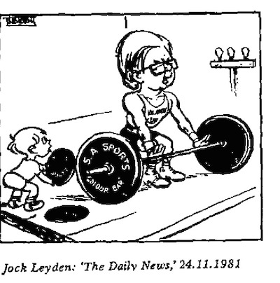 Jock Leyden- Weightlifting cartoon