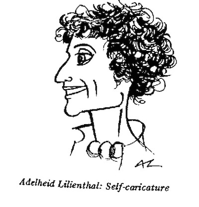 Adelheid Lilienthal- Self Caricature