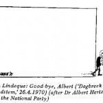 Len Lindeque- Goodbye Albert cartoon