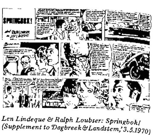 Len Lindeque- Springbok cartoon