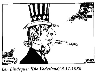 Len Lindeque- Uncle Sam cartoon