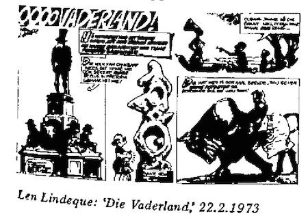 Len Lindeque- Vaderland cartoon