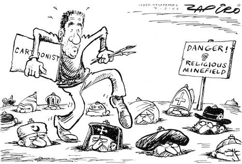 """Jonathan """"Zapiro"""" Shapiro - Danger! Religious Minefield"""