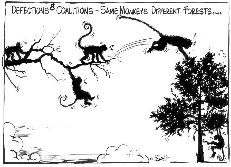 muigal-defections and coalitions