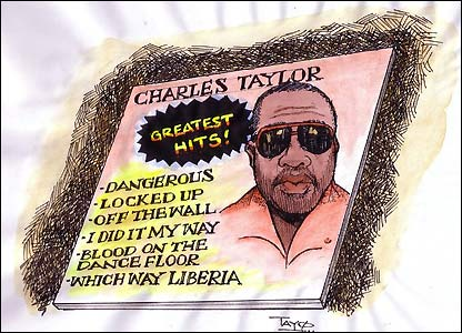 Image result for charles taylor liberia cartoon