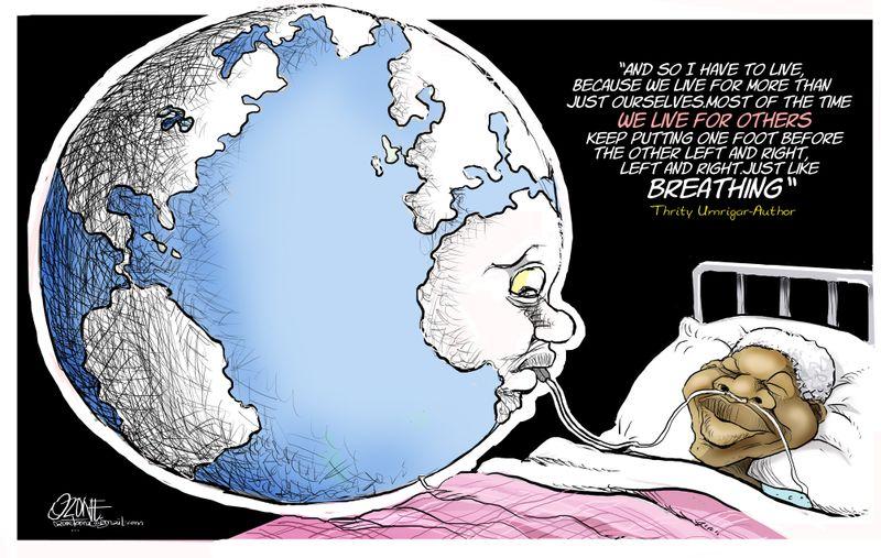 ozone-the world keeps madiba going