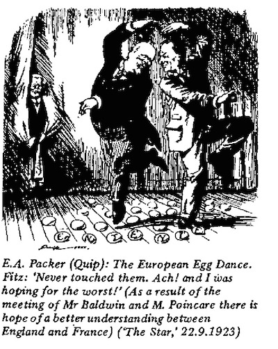 E.A. Packer- European Egg Dance cartoon