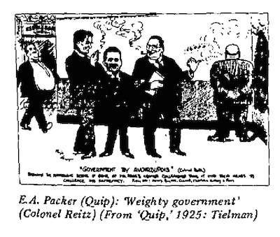 E.A. Packer- Weighty Government cartoon
