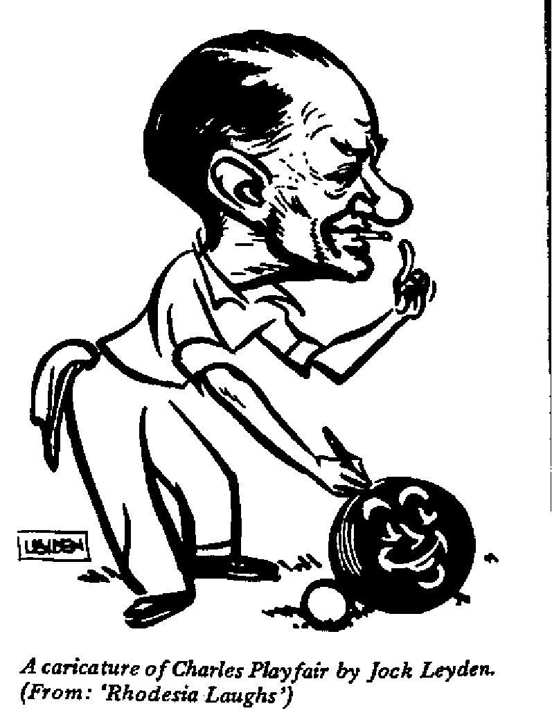 Jock Leyden - Caricature of Charles Playfair