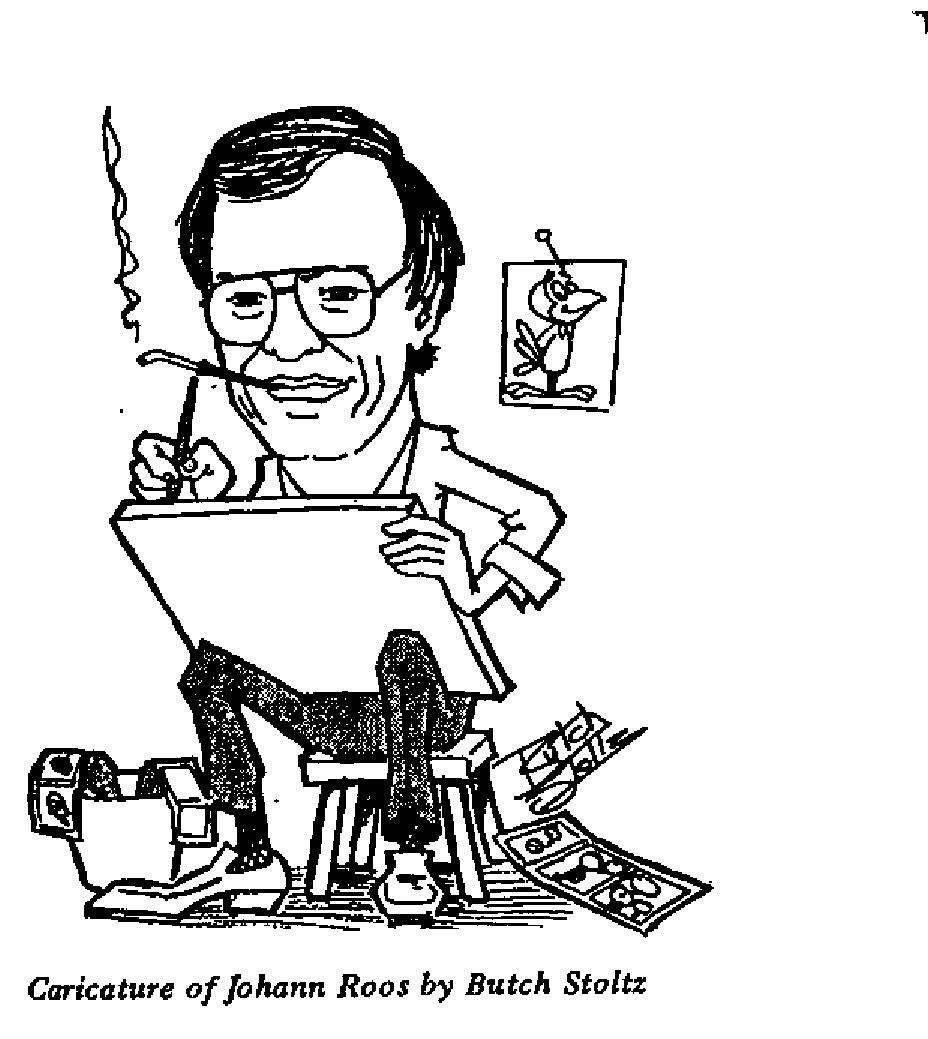 Butch Stoltz - Caricature of Johann Roos