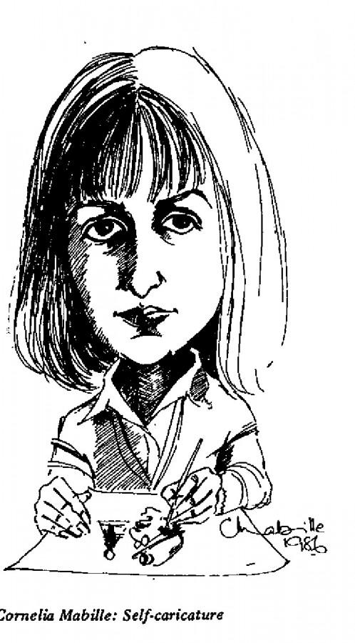 Cornelia Mabille - Self-caricature
