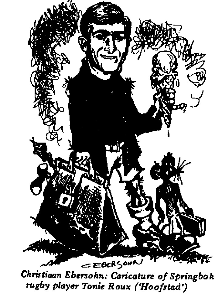 Christiaan Ebersohn - Caricature of Tonie Roux