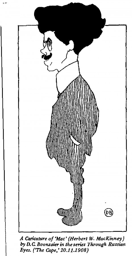 Herbert MacKinney - A Caricature of 'Mac'