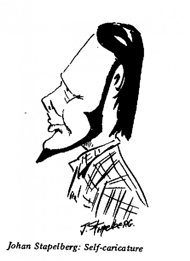 Johan Stapelberg - Self-caricature
