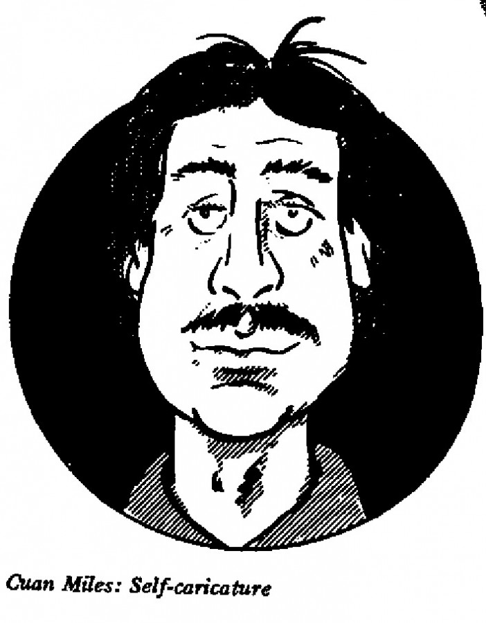 Cuan Miles - Self-caricature