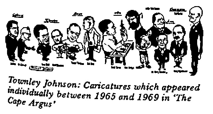 Townley Johnson - Caricatures in The Cape Argus