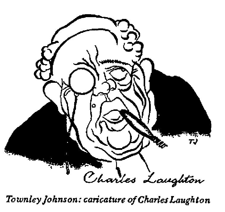 Townley Johnson - Caricature of Charles Laughton