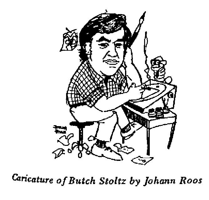 Johann Roos - Caricature of Butch Stoltz