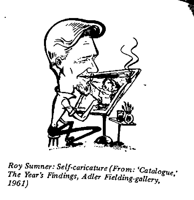 Roy Sumner - Self-caricature