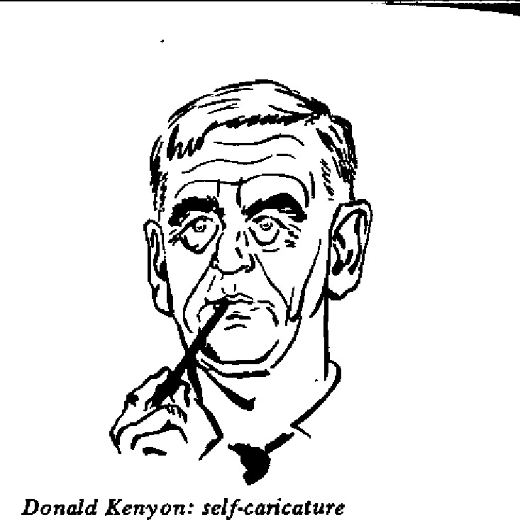Donald Kenyon - Self Caricature