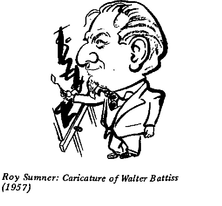 Roy Sumner - Caricature of Walter Battiss