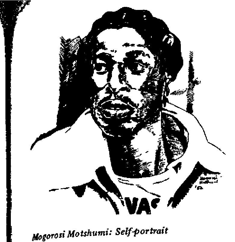Mogorosi Motshumi - Self-portrait