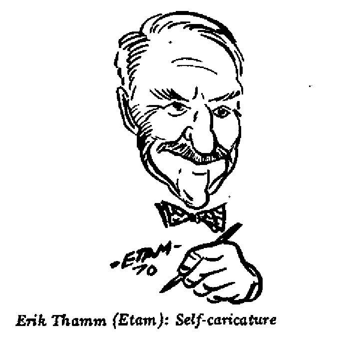 Erik Thamm - Self-caricature