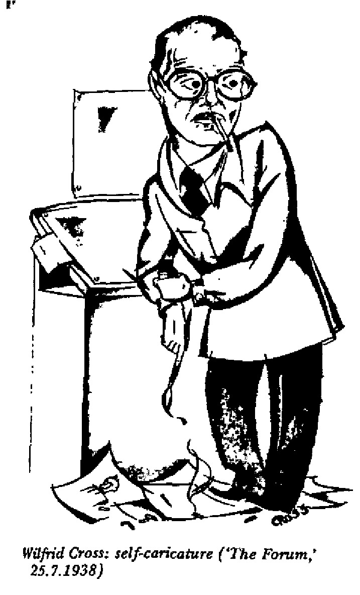 Wilfrid Cross - Self Caricature