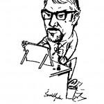 Oswald Gerber - Self Caricature