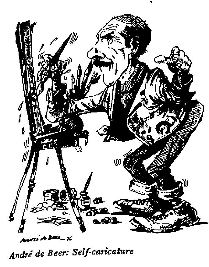 André de Beer - Self Caricature