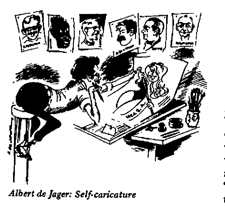 Albert De Jager - Self Caricature