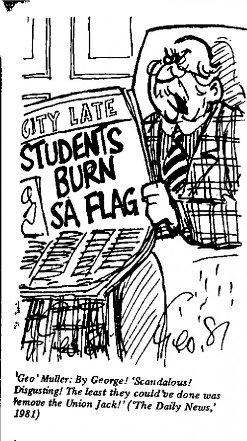 "George ""Geo"" Muller - Students Burn SA Flag"