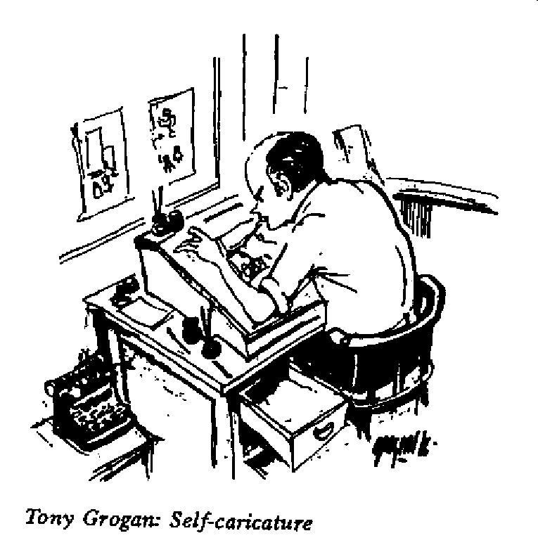 Tony Grogan - Self Caricature