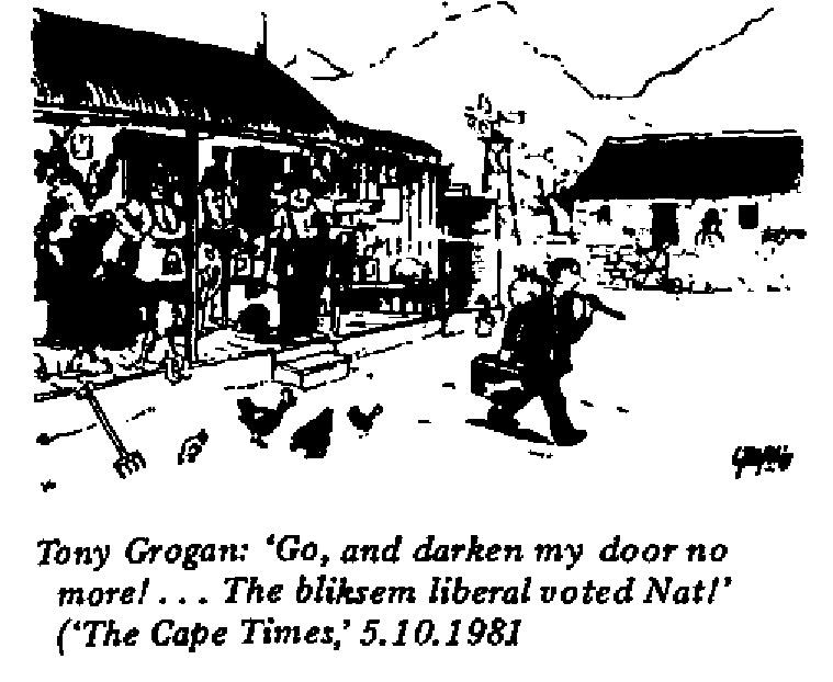 Tony Grogan- Darken My Door No More cartoon