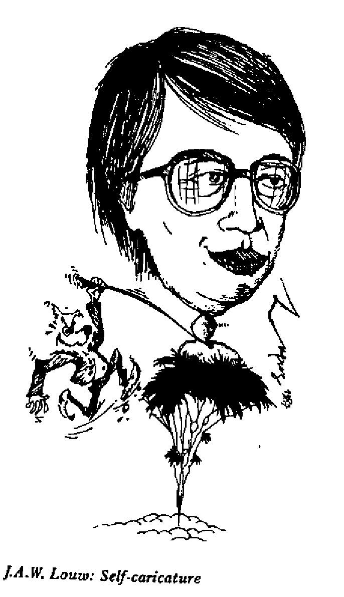 J.A.W. Louw - Self-caricature