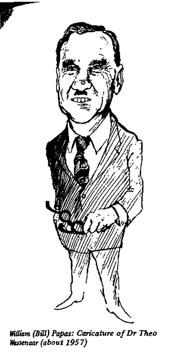 William Papas - Caricature of Dr. Theo Wassenaar