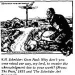 W.H. Schroeder- Oom Paul cartoon