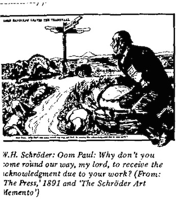 W.H. Schroeder- Oom Paul cartoon