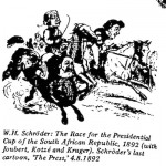 W.H. Schroeder- Race for the Presidential Cup cartoon